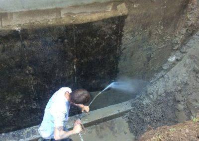 Nettoyage d'une fondation avec jet d'eau sous pression à Terrebonne et ses environs - Alain Fissure à mascouche